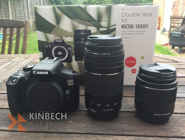 CANNON 1300D WITH TWO EXTRA LENS | www.kinbechnepal.com