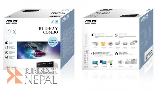 Asus BC-12D2HT Blu-ray Combo Drive for Desktop | www.kinbechnepal.com