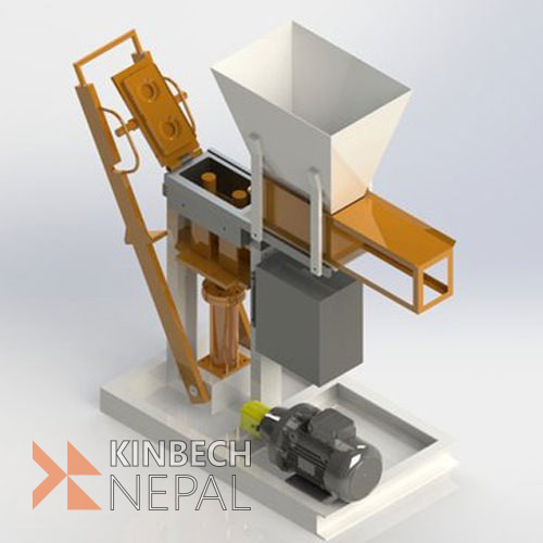 Hydraulic Soil Block Making Machine (3in1)   www.kinbechnepal.com