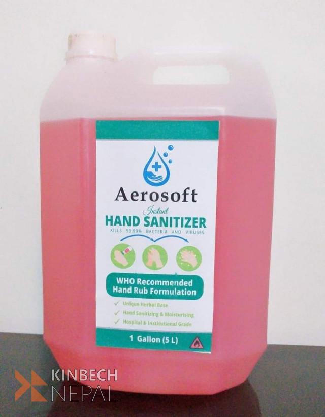 Sanitizer 5ltrs gallon | www.kinbechnepal.com