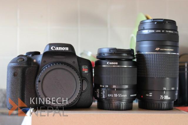 Canon EOS Rebel T6i / 750D Digital Camera EF-S 18-55mm IS   www.kinbechnepal.com