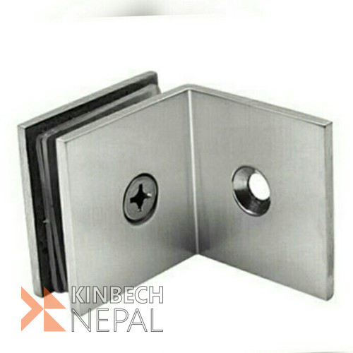 L Connector 3mm For Toughened Glass By RV Plus | www.kinbechnepal.com