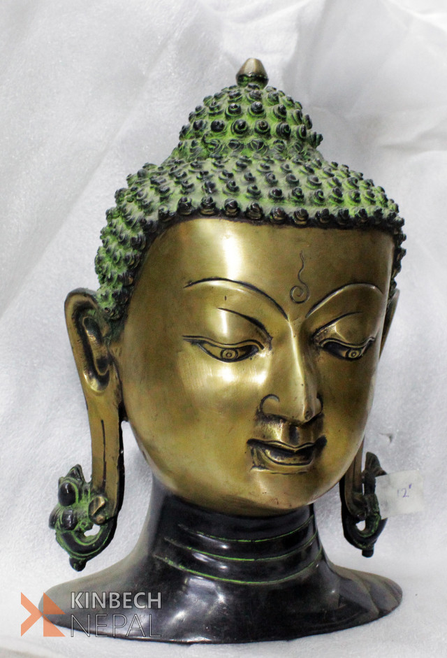 Buddha Head 12'' | www.kinbechnepal.com
