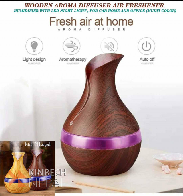Wooden Aroma Diffuser Air Freshener Humidifier | www.kinbechnepal.com