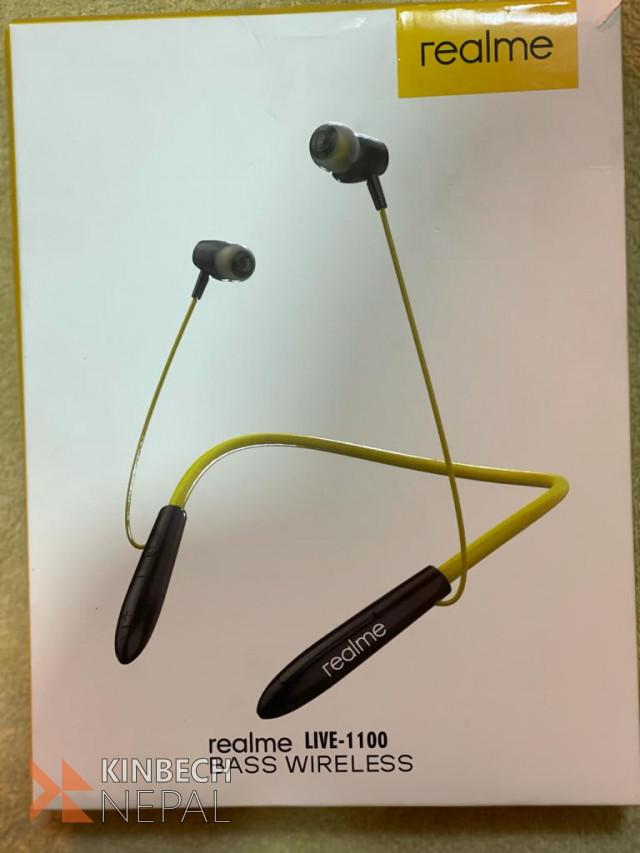 Realme Live 1100 bass wireless neck earphone | www.kinbechnepal.com