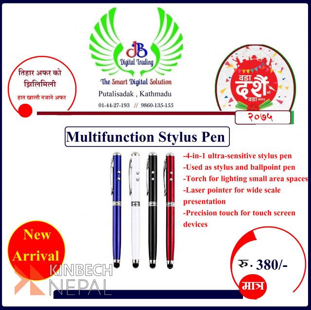 4 in 1 Stylus Pen   www.kinbechnepal.com