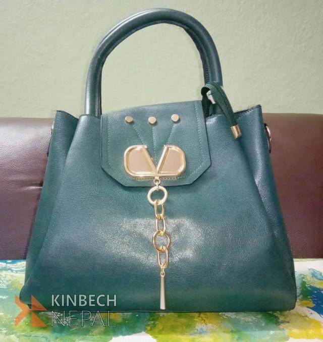 Dark Green Ladies Bag | www.kinbechnepal.com