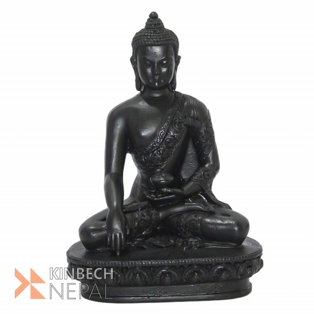 Resin Lord Buddha Statue Black Colour -8 | www.kinbechnepal.com