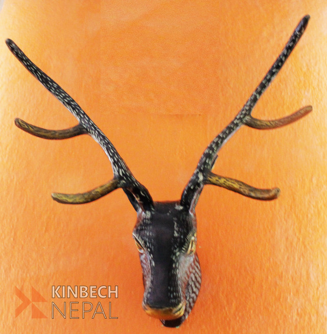 Brass Metal Deer Head | www.kinbechnepal.com