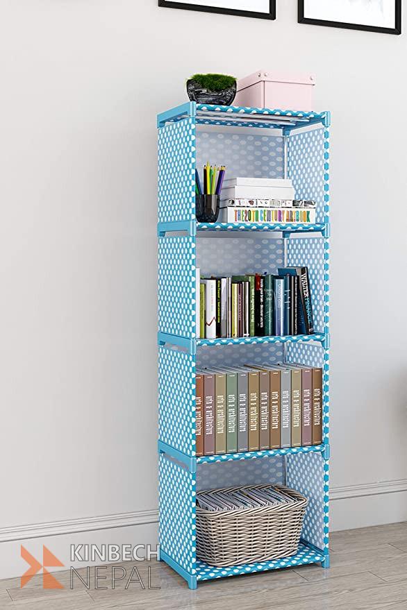 Books Storage Organizer Children Book Rack| Bookcase for Home Furniture |Cabinet Shelves for Bedroom Office Living Room (4 Cases,) | www.kinbechnepal.com
