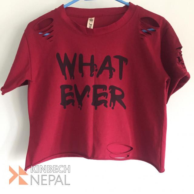 Cropped T-shirt | www.kinbechnepal.com