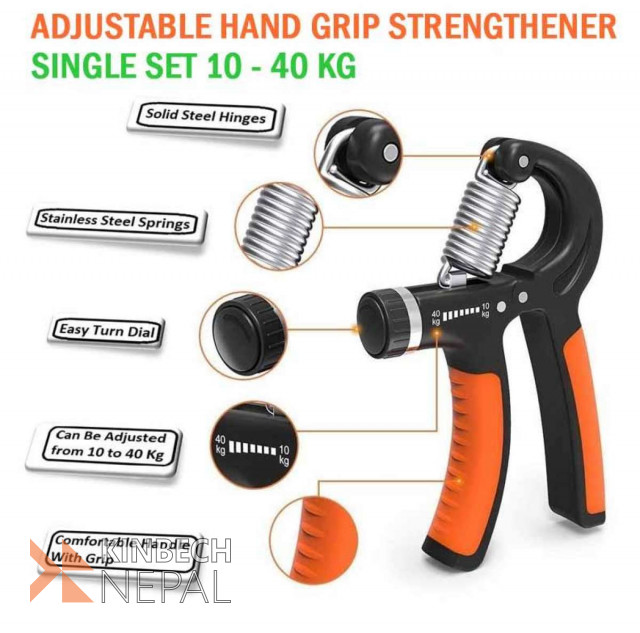Adjustable Hand Grip Strengthener Single Set 10 - 40 Kg | www.kinbechnepal.com