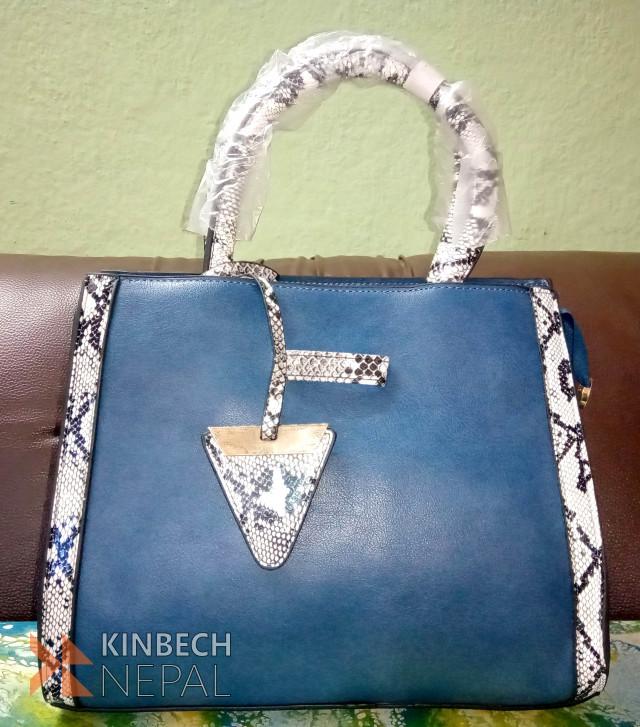 Blue Ladies Bag | www.kinbechnepal.com