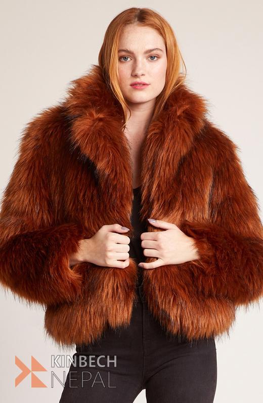Brown Fur Jacket | www.kinbechnepal.com