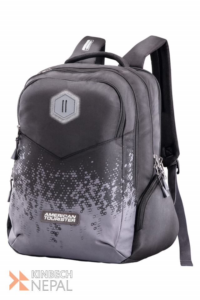 Laptop bag American Tourister INSTA +01 Black /Grey | www.kinbechnepal.com