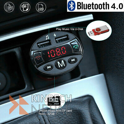 Car Bluetooth FM Transmitter MP3 Player 2 USB Drive Car SD AUX Handsfree | www.kinbechnepal.com
