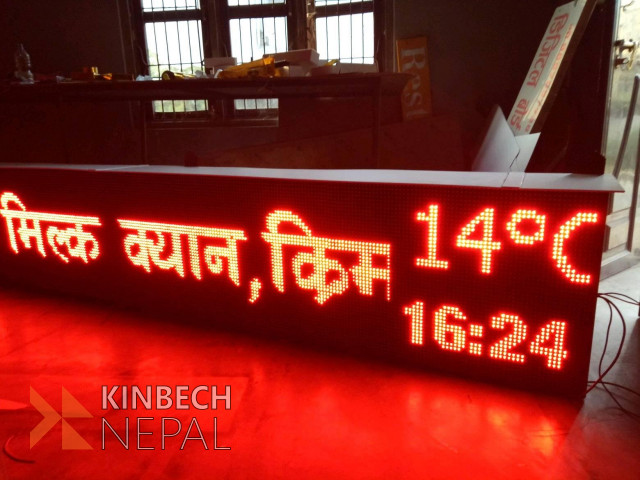 LED Screen Display/Scrolling Board, display your business.   www.kinbechnepal.com