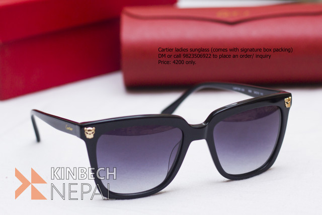 Cartier Ladies Sunglasses (Comes with Signature Box) | www.kinbechnepal.com