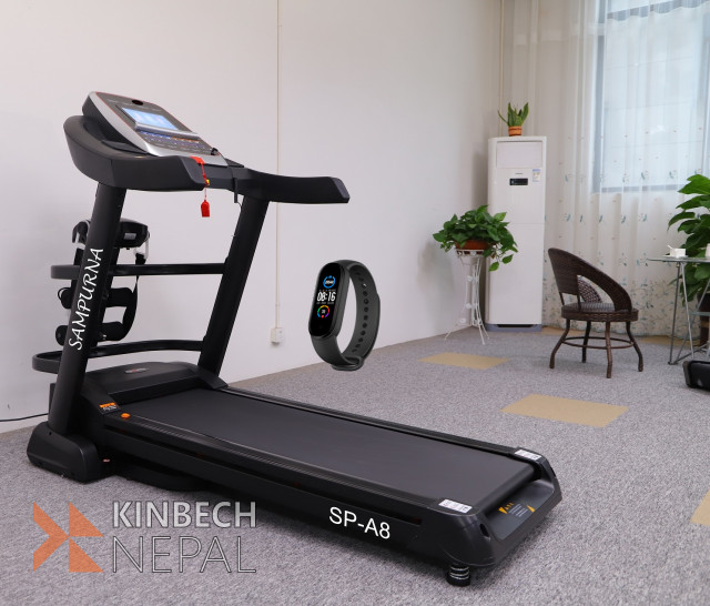 "Multi Function 10.1""touch Screen Treadmill:android Smart System: 5 years warranty 