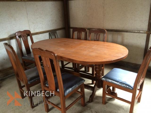 Wood Color Dining Table Set | www.kinbechnepal.com