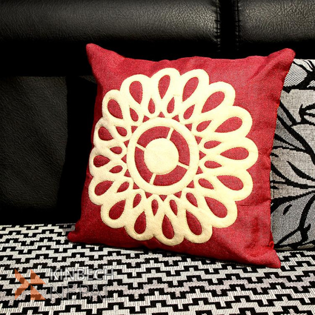 Embroidery Cushion Cover Set Of 5 - 16*16 Inch | www.kinbechnepal.com