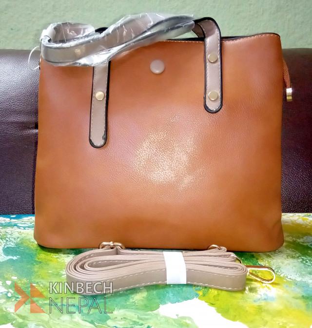 Brown Ladies Bag On Sale | www.kinbechnepal.com