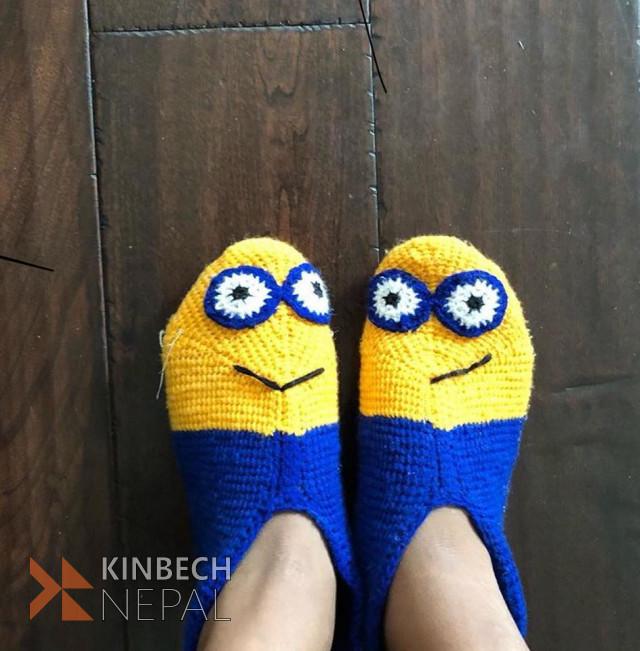 Crochet Minions Socks For Men | www.kinbechnepal.com
