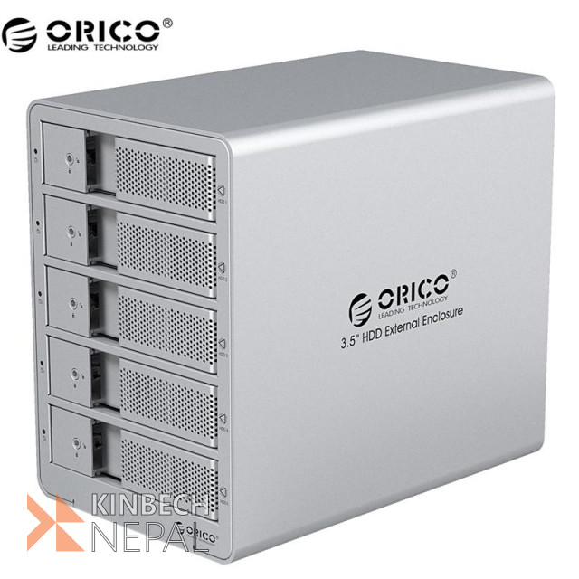 ORICO 5-Bay 3.5 External Box Enclosure HDD Docking Station | www.kinbechnepal.com