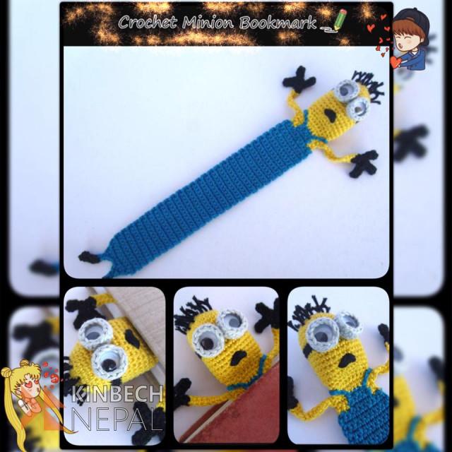 Crochet Minion Bookmark | www.kinbechnepal.com