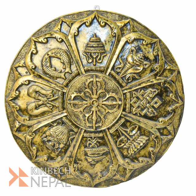 Resin Astamangal Show Piece Antique Finish | www.kinbechnepal.com