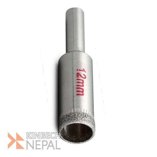 Glass Drill Bit Diamond Tipped 12 mm  Metal Hole Saw By RV Plus   www.kinbechnepal.com