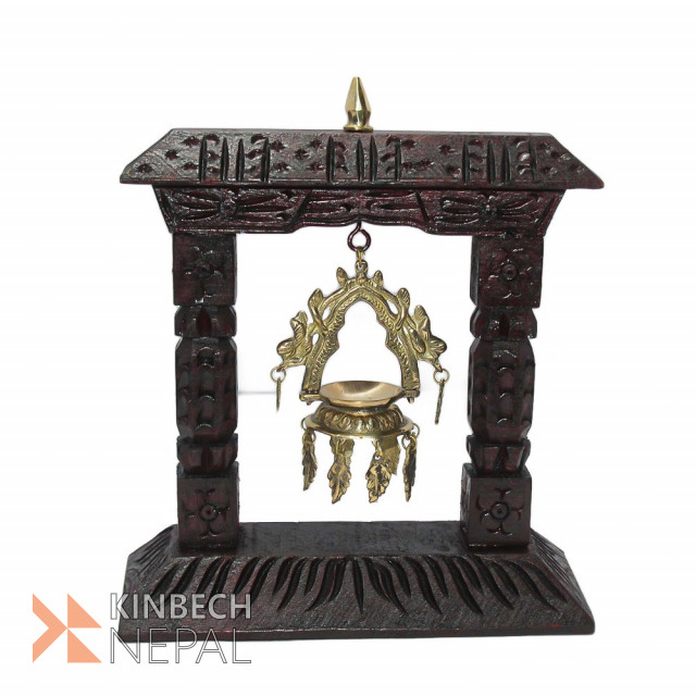 Wooden Carving Shanti Deep Rosewood Finish | www.kinbechnepal.com