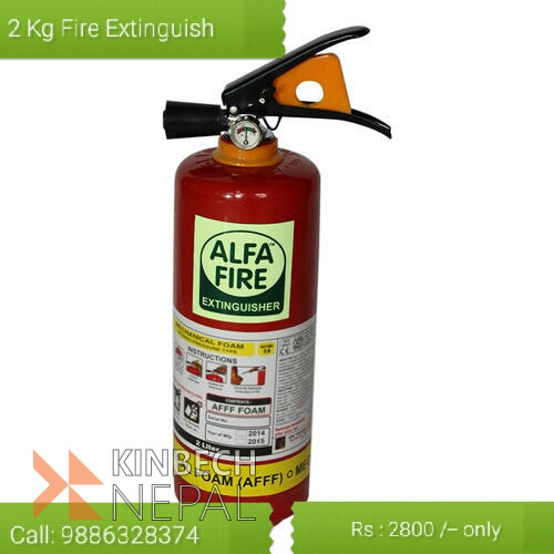 2 Kg Fire Extinguisher in Kathamandu | www.kinbechnepal.com