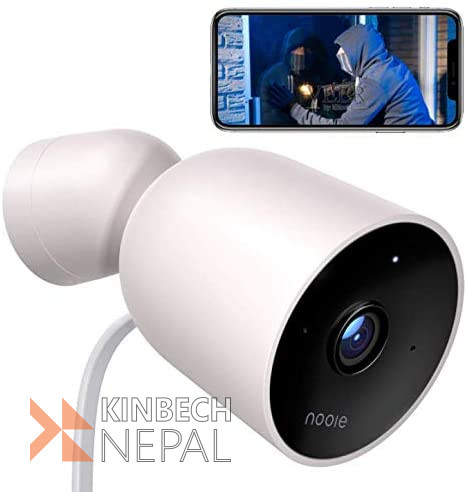 Nooie Outdoor WiFi IP Waterproof Security Camera 1080P HD IP66 with Motion Detection Two-Way Audio Night Vision 128G SD Card Support | www.kinbechnepal.com