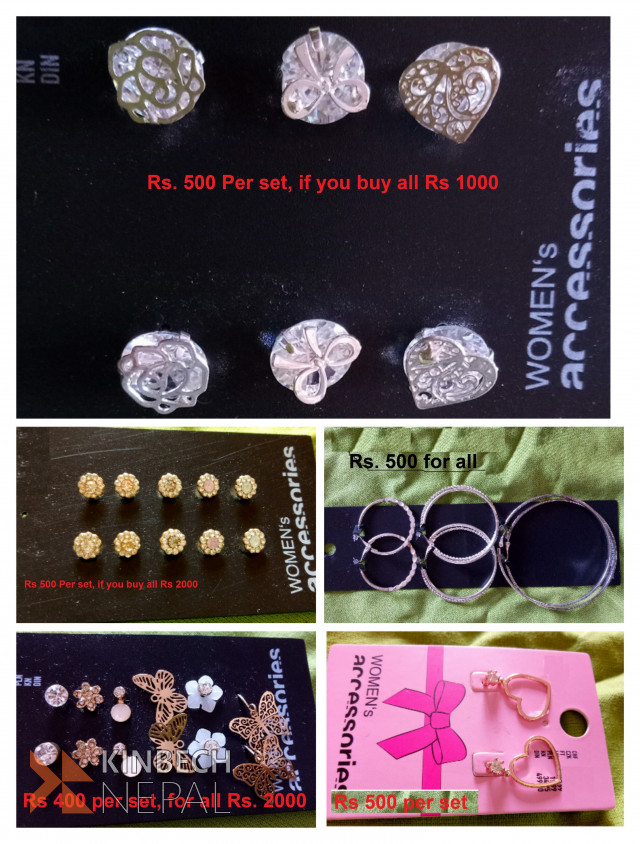 Earrings and Tops | www.kinbechnepal.com