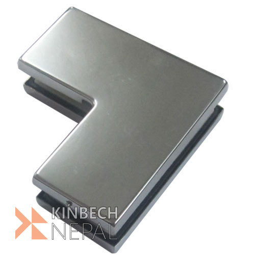 Small L patch Fitting For Glass Door By RV Plus | www.kinbechnepal.com
