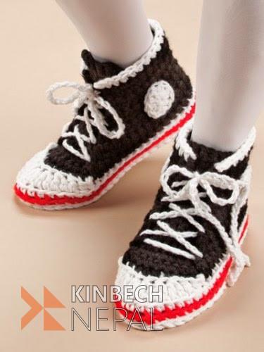Crochet Adult Converse | www.kinbechnepal.com