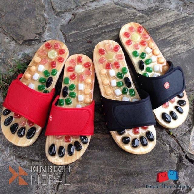 Natural Pebble Reflexology Slippers | www.kinbechnepal.com