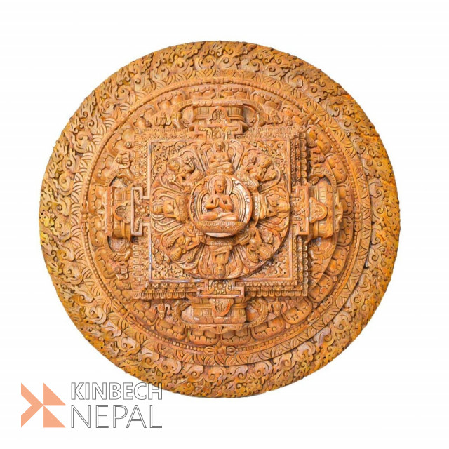 Resin Mandala Wooden Color 14 | www.kinbechnepal.com