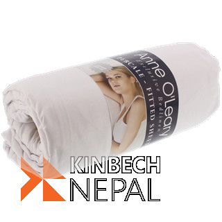 Anne O'Leary fitted sheet 180 x 200 cm | www.kinbechnepal.com