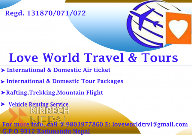 Love World Travel & tours | www.kinbechnepal.com