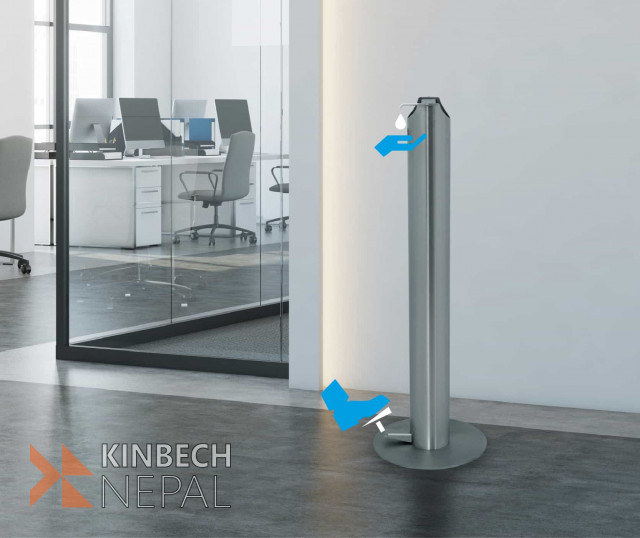 FOOT OPERATED HAND SANITIZER DISPENSER | www.kinbechnepal.com