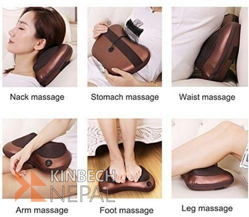 Electric Massage Pillow For Car and Home | www.kinbechnepal.com