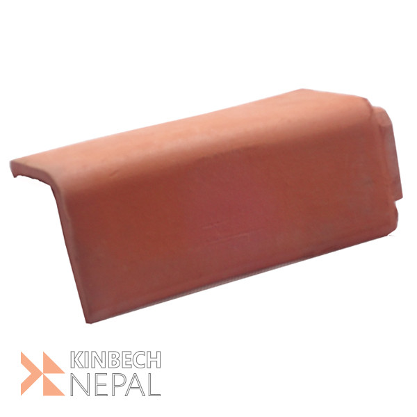 Plane Ridge Roof Top  Corner Terracotta Tile Small size | www.kinbechnepal.com