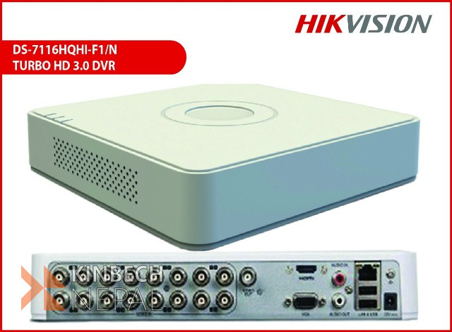 8-CH Turbo HD DVR DS-7108HGHI-F1/N | www.kinbechnepal.com
