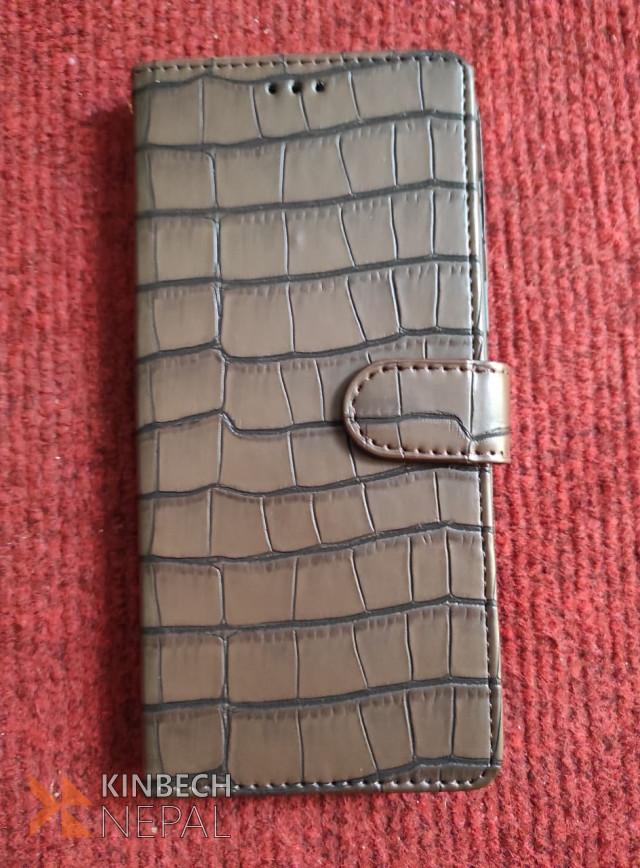 Original Leather Flip Cover iphone 12/ 12 pro (brown Color Case) | www.kinbechnepal.com