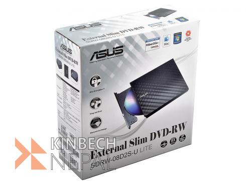 ASUS External Slim 8X DVD-RW Stylish Cut Design Optical Drive | www.kinbechnepal.com