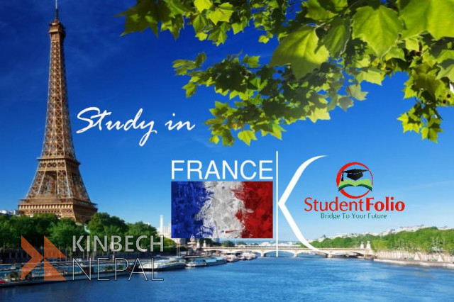 Study in France without IELTS | www.kinbechnepal.com