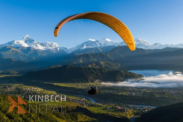 Paragliding in Pokhara - 1 Day | www.kinbechnepal.com