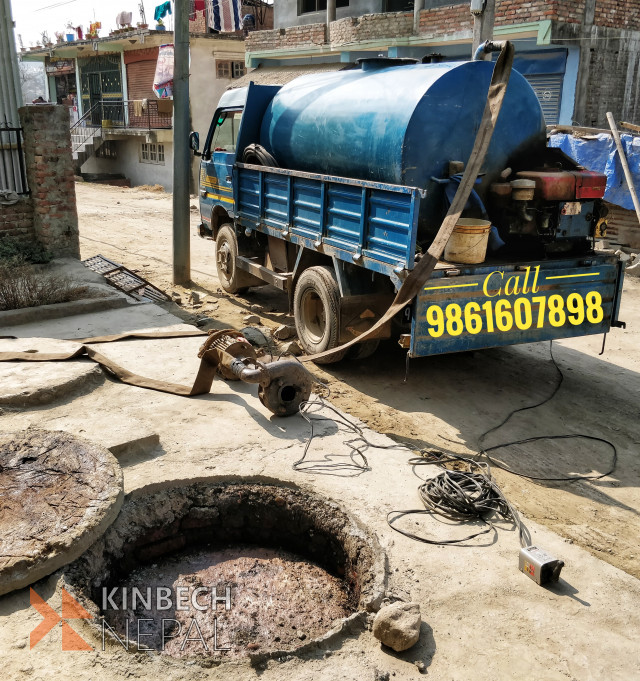 Drainage and safety tank cleaning service in Kathmandu Nepal | www.kinbechnepal.com